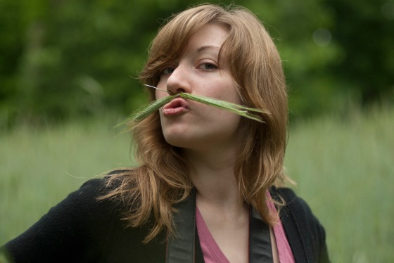 Photo Char took of me with my grass mustache. Photo © Charlene Champion
