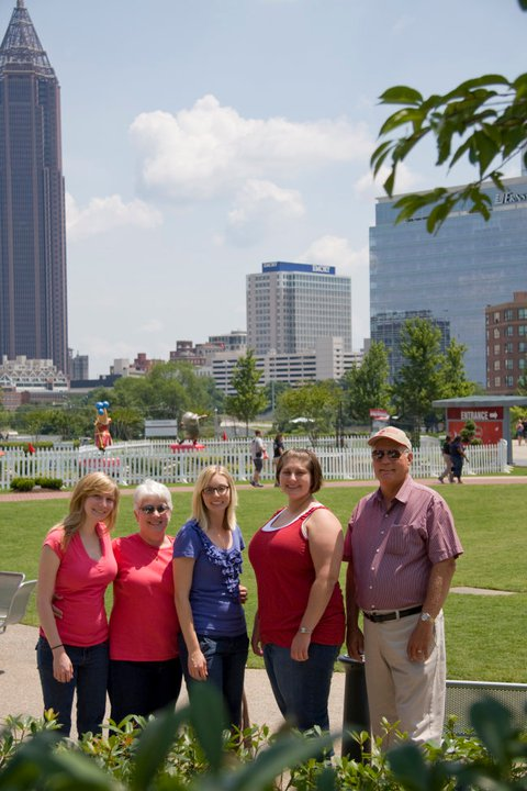 The family in downtown Atlanta