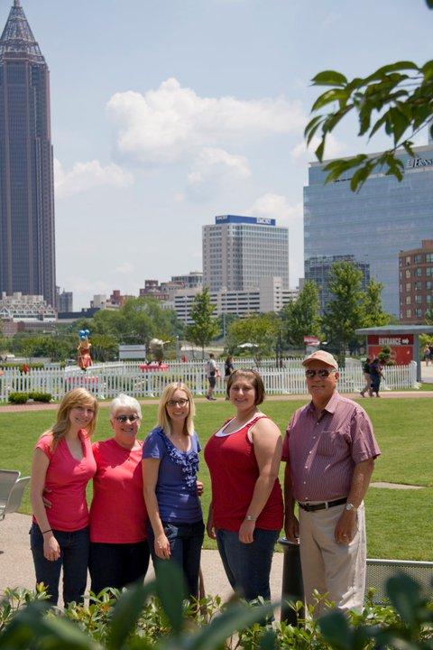 The family in downtown Atlanta