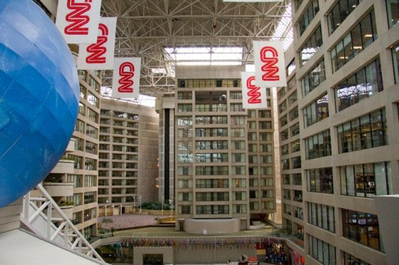Offices at CNN and part of the hotel © Holly Hildreth 2011
