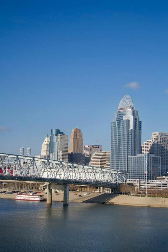 Cincinnati Skyline as seen from the Kentucky side